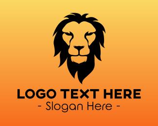 """Orange Lion Head"" by LogoBrainstorm"