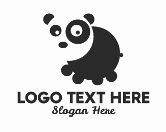 Animal Sanctuary - Round Panda  logo design