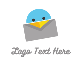 Message - Bird Letter logo design
