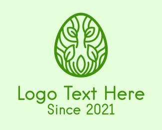 Organic Egg - Green Natural Egg  logo design