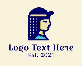 Maiden - Beautiful Egyptian Maiden logo design