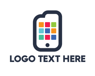 Mobile Phone - Document App logo design