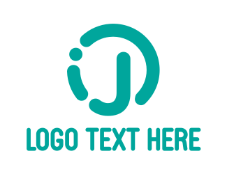 Teal - Rounded Teal J logo design