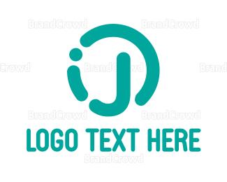 Design - Rounded Teal J logo design