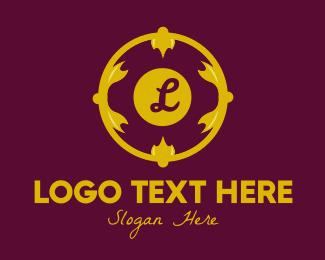 Opulent - Gold Gothic Lettermark logo design