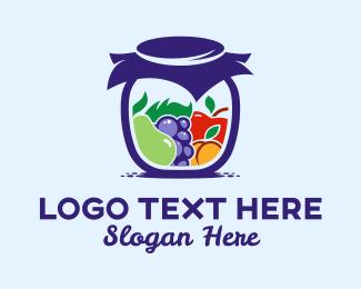 Pear - Healthy Fruit Jar  logo design