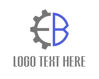 Cogs - Blue Engine logo design
