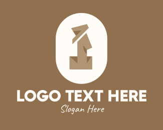 Archeologist - Brown Ethnic Letter I logo design