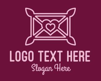 Confession - Love Letter Envelope  logo design