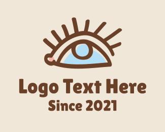Eyelash - Eye Doodle Line Art logo design