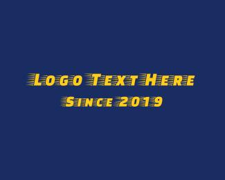 Runner - Yellow Race logo design