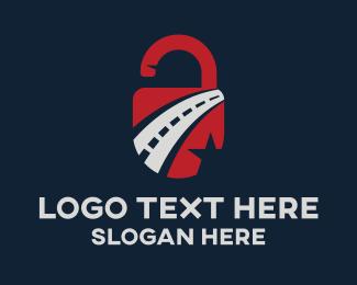 Safety - Automotive Road Lock logo design