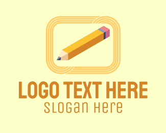 Scholarly - Writing Pencil Isometric logo design