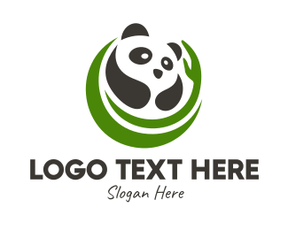 Panda - Nature Panda Bear  logo design