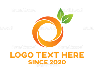 Green And Orange - Round Abstract Orange logo design