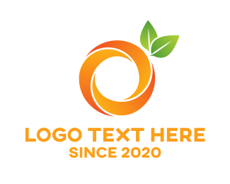 Tangerine - Round Abstract Orange logo design