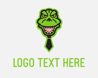 Gator - Godzilla Tie logo design