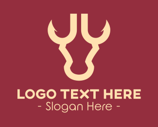 Abattoir - Bull Hook Horns logo design