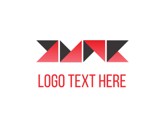 Texture - Folded Red Paper logo design