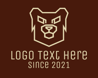 Grizzly - Angry Grizzly Bear logo design