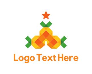 Xmas - Pineapple Tree logo design