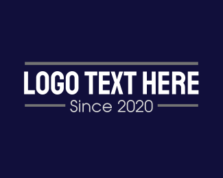 Business - Professional Business Text logo design