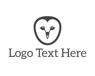 Basic - Simple Owl Face logo design