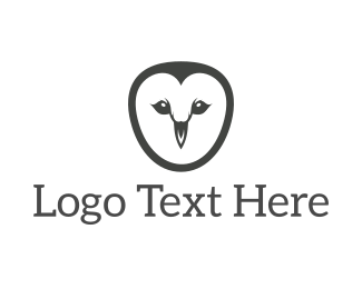 Wisdom - Simple Owl Face logo design