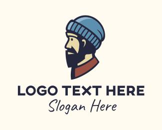 Grandparent - Hippie Old Man logo design