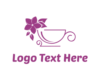 Coffee Shop - Lilac Flower Tea  logo design