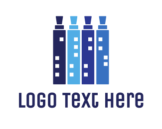 Vape Shop - Blue Vape City Shop logo design