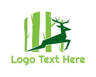 Green Deer Logo