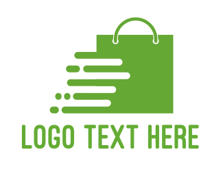 Handbag - Green Shopping Bag logo design