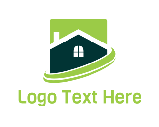 Home Insurance - Green Home logo design