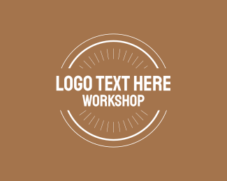 Brown And White - Workshop logo design