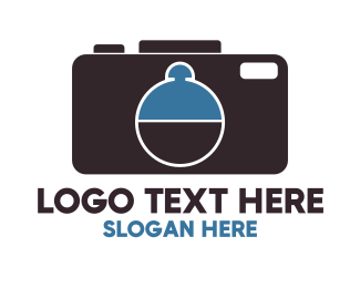 Food Vlogger - Camera Tray logo design