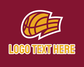 Basketball Equipment - Basketball Flag  logo design