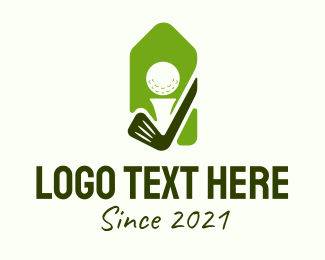 Golf - Green Golf Badge  logo design