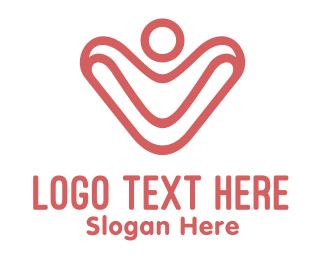 Health Insurance - Abstract Green V  logo design