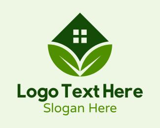 Home Garden - Eco House Real Estate  logo design