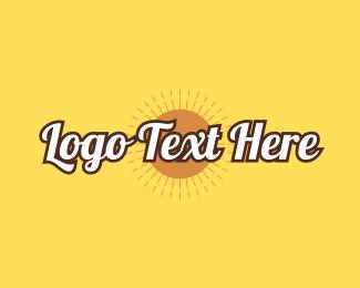 Text Logo - Summer Design Wordmark logo design