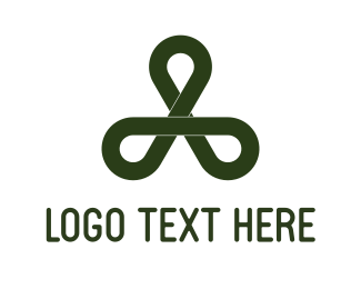 Clover - Black Loops logo design