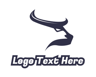 Horn - Abstract Blue Horns logo design