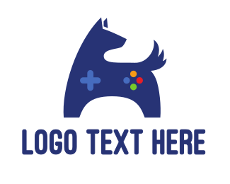Blue Puppy - Blue Dog Gaming logo design