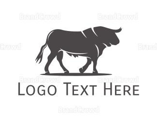 Silhouette - Wild Bull Silhouette logo design