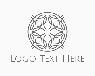 Wreath - Floral Circle logo design