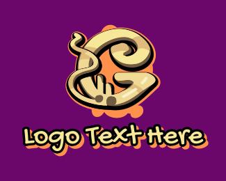 Graffiti Art Letter G Logo