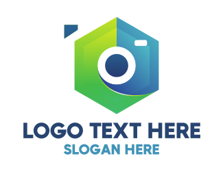 Photograph - Abstract Hexagon Camera logo design