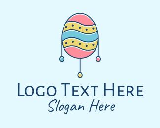 Road Sign - Decorative Easter Egg  logo design