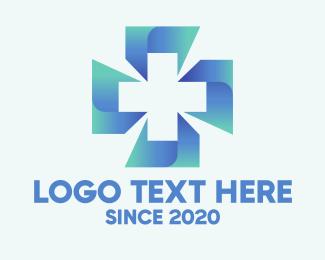 Health Care Worker - Blue Cross Hospital logo design